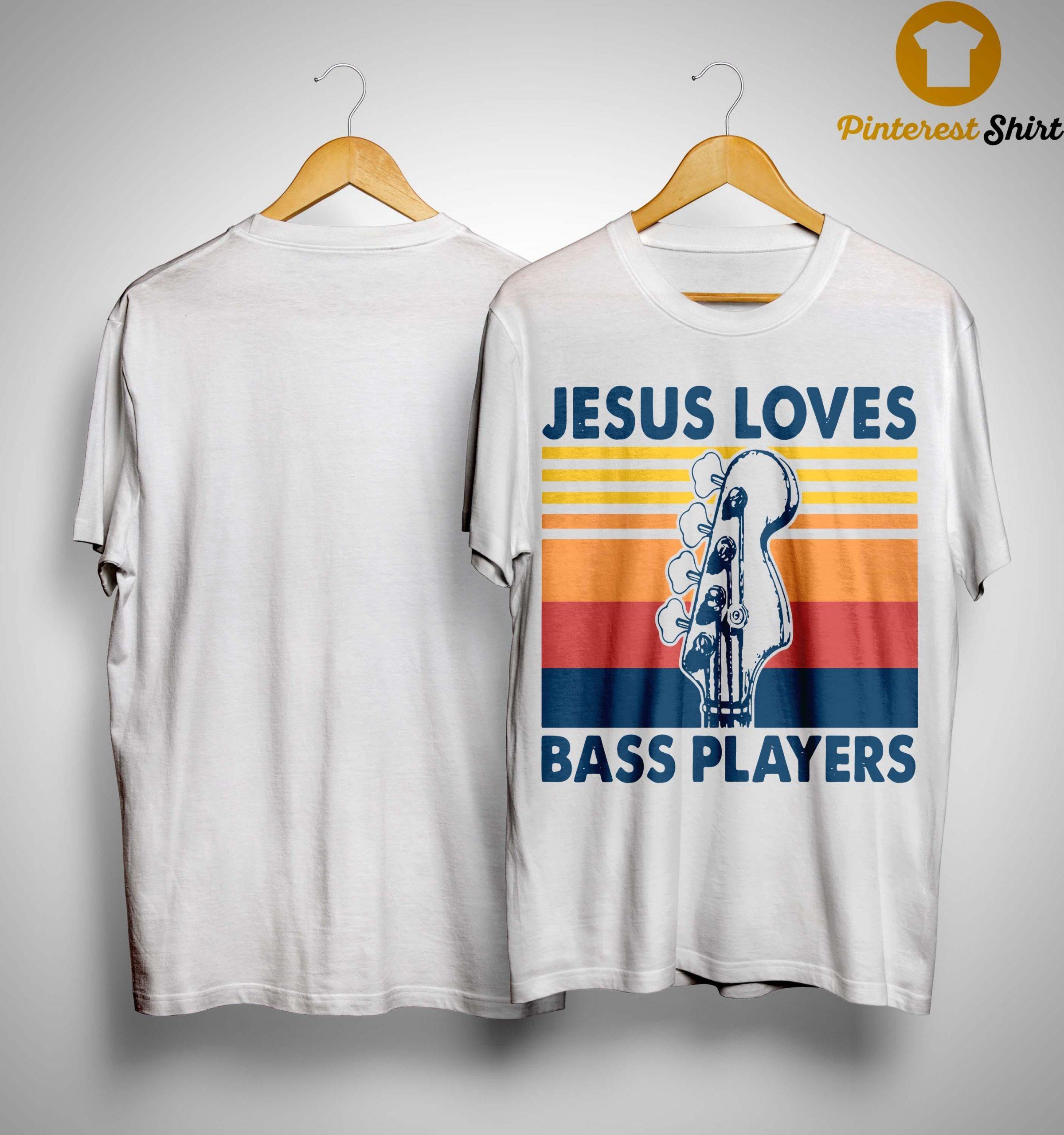Vintage Jesus Loves Bass Players Shirt