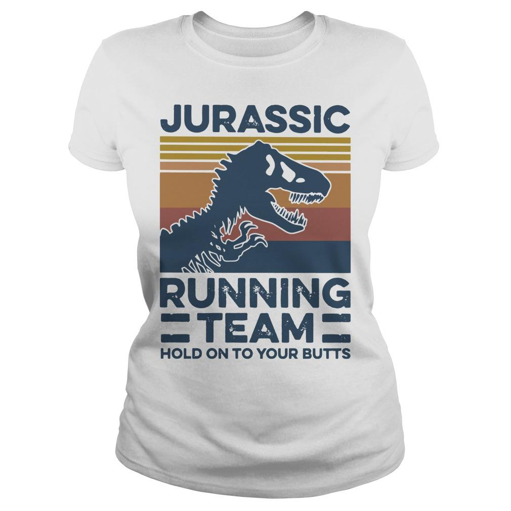 Vintage Jurassic Running Team Hold On To Your Butts Longsleeve