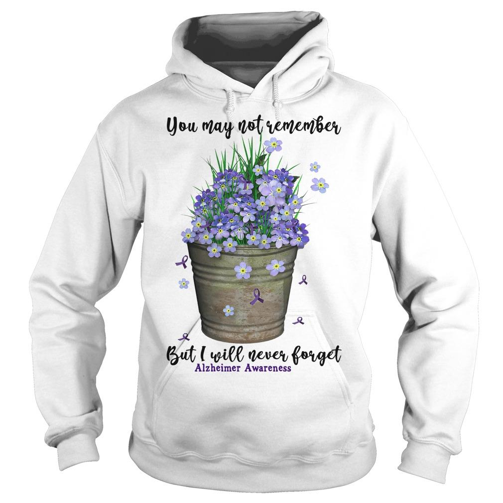 You May Not Remember But I Will Never Forget Alzheimer Awareness Hoodie