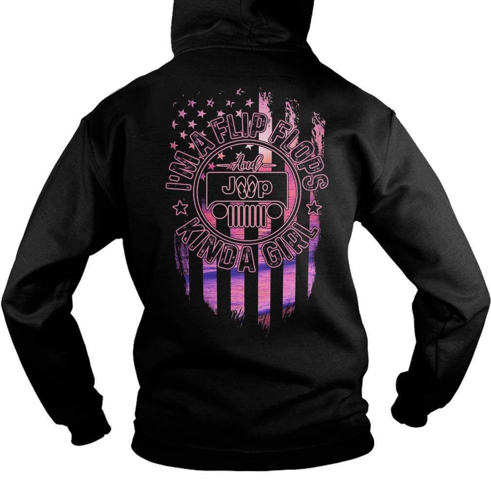 American Flag Jeep Girl I'm A Flip Flops Kinda Girl Hoodie