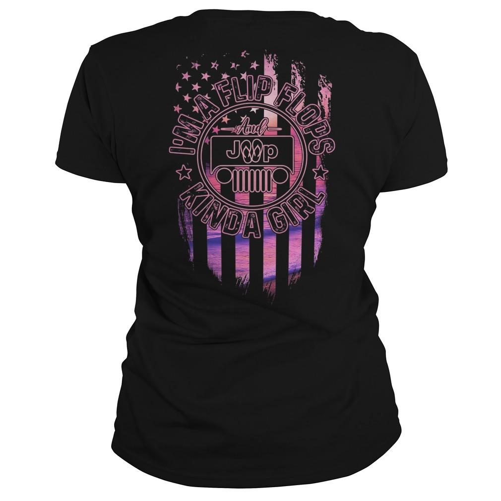 American Flag Jeep Girl I'm A Flip Flops Kinda Girl Longsleeve