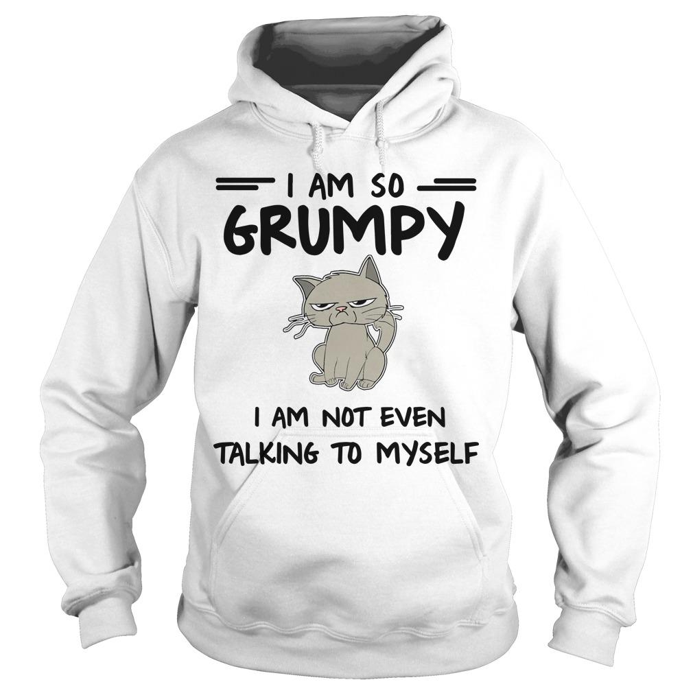 Cat I Am So Grumpy I Am Not Even Talking To Myself Hoodie