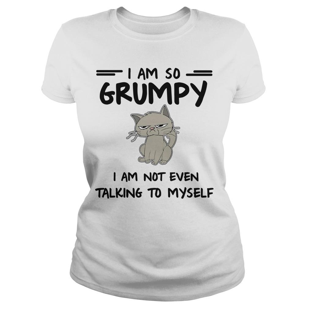Cat I Am So Grumpy I Am Not Even Talking To Myself Longsleeve