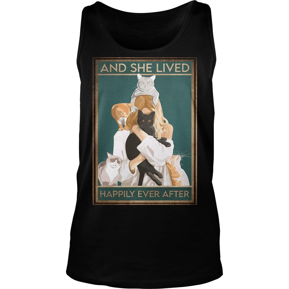 Girl Hugging Cat Happily Ever After Tank Top