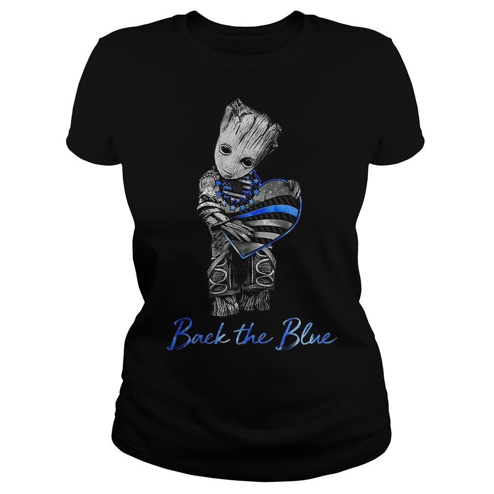 Groot Heart Back The Blue Longsleeve
