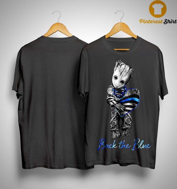 Groot Heart Back The Blue Shirt