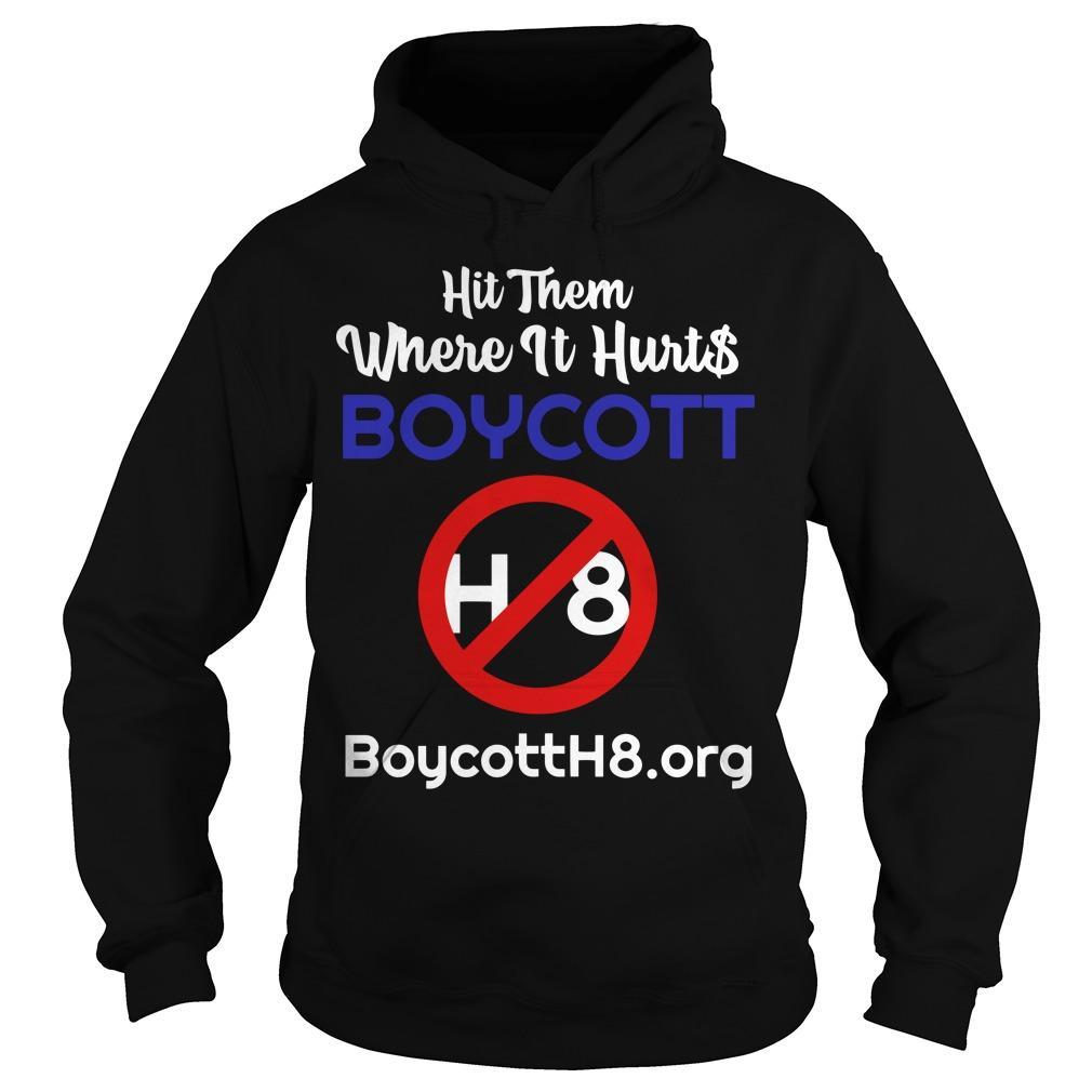 Hit Them Where It Hurts Boycott H8 Hoodie