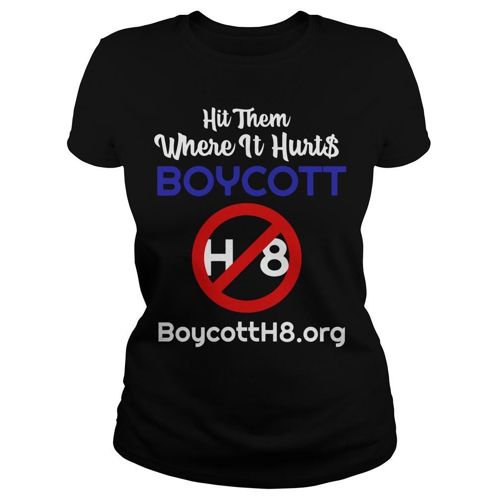Hit Them Where It Hurts Boycott H8 Longsleeve