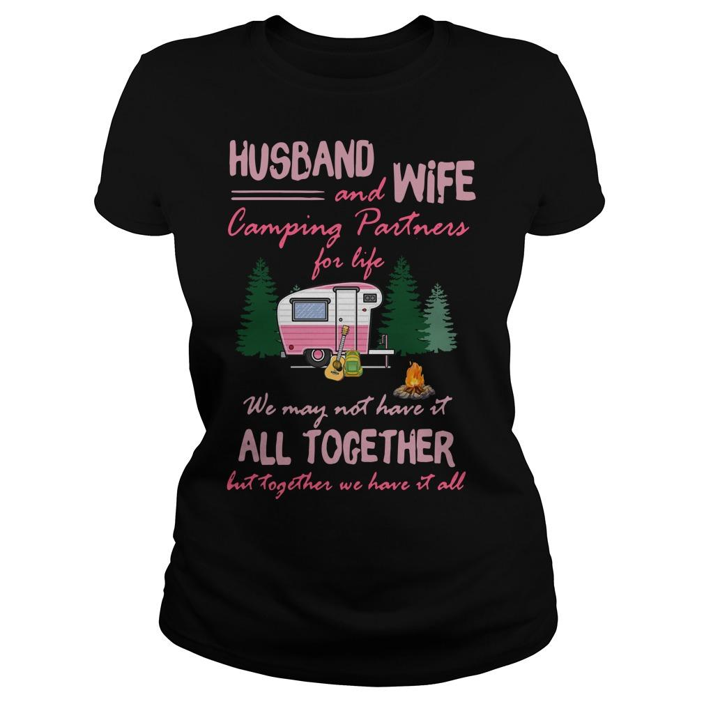 Husband And Wife Camping Partners For Life Longsleeve