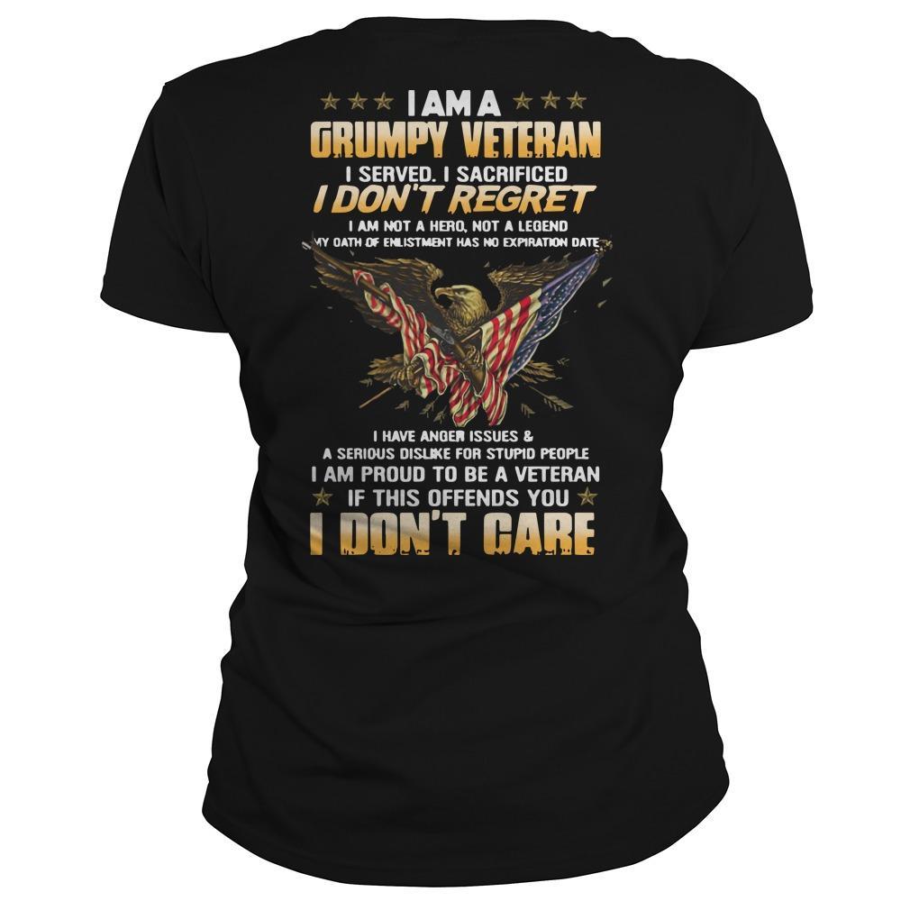 I Am A Grumpy Veteran I Served I Sacrificed I Don't Regret Longsleeve