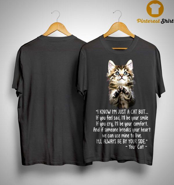 I Know I'm Just A Cat But If You Feel Sad I'll Be Your Smile Shirt