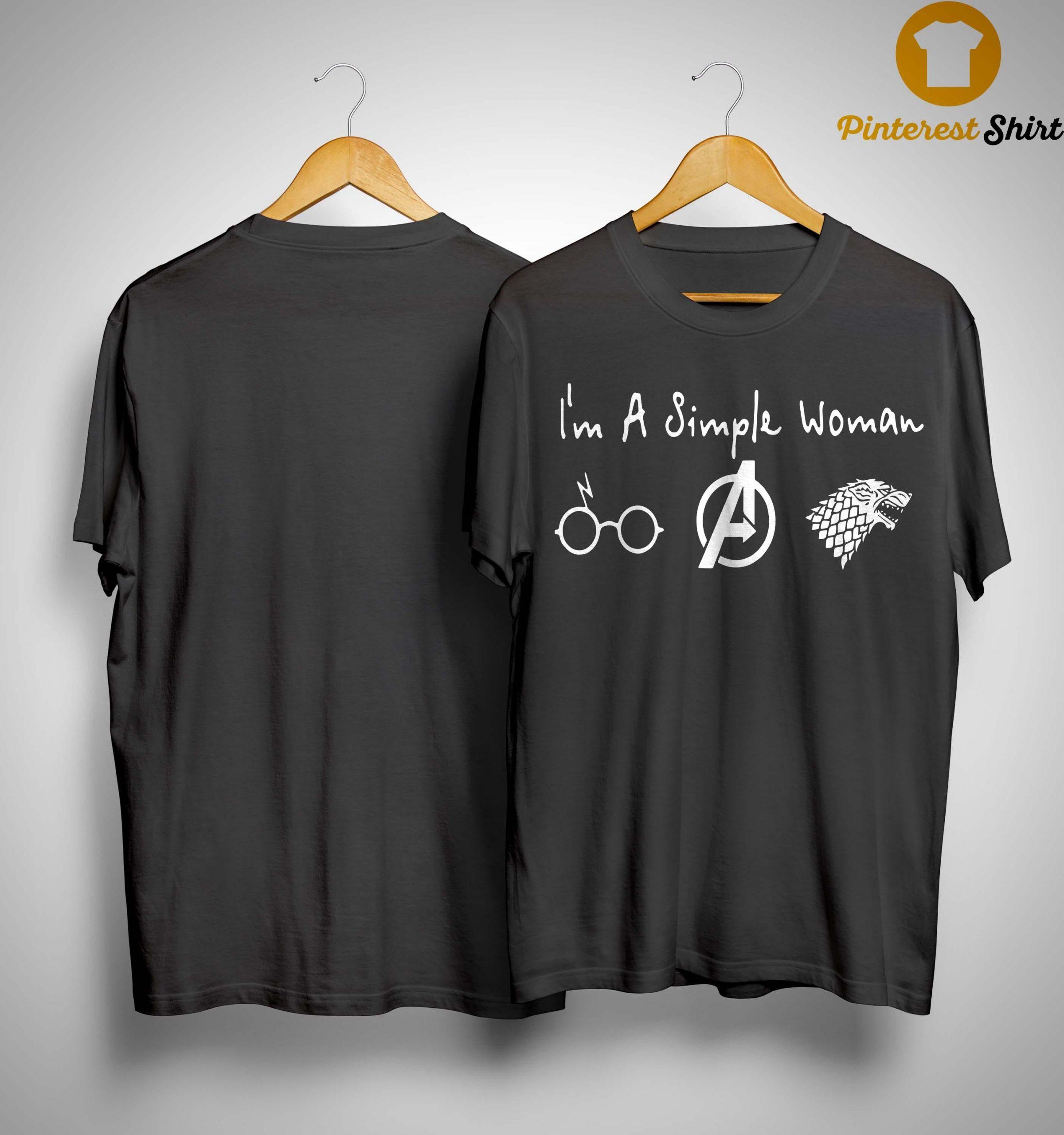 I'm A Simple Woman Like Harry Potter Avengers Stark Shirt