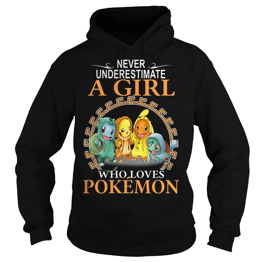 Never Underestimate A Girl Who Loves Pokémon Hoodie