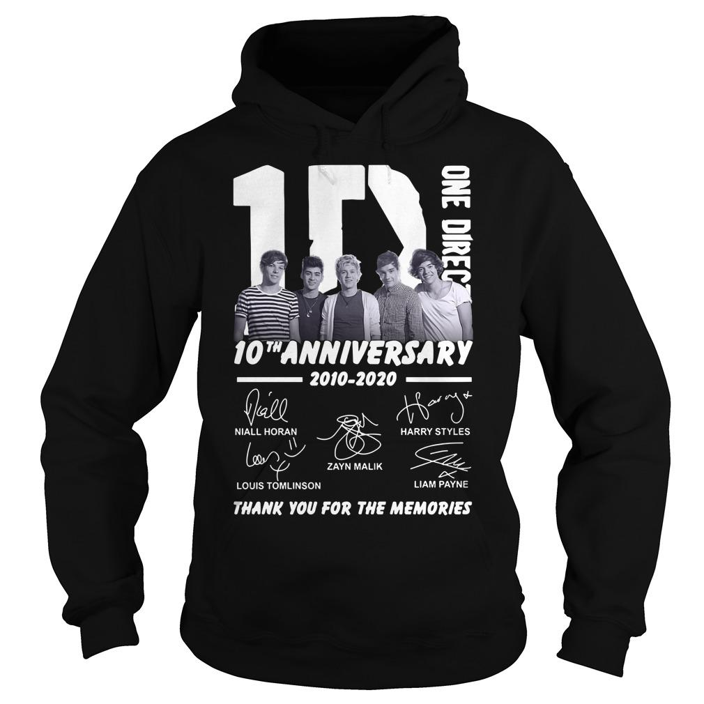 One Direction 10th Anniversary Thank You For The Memories Hoodie