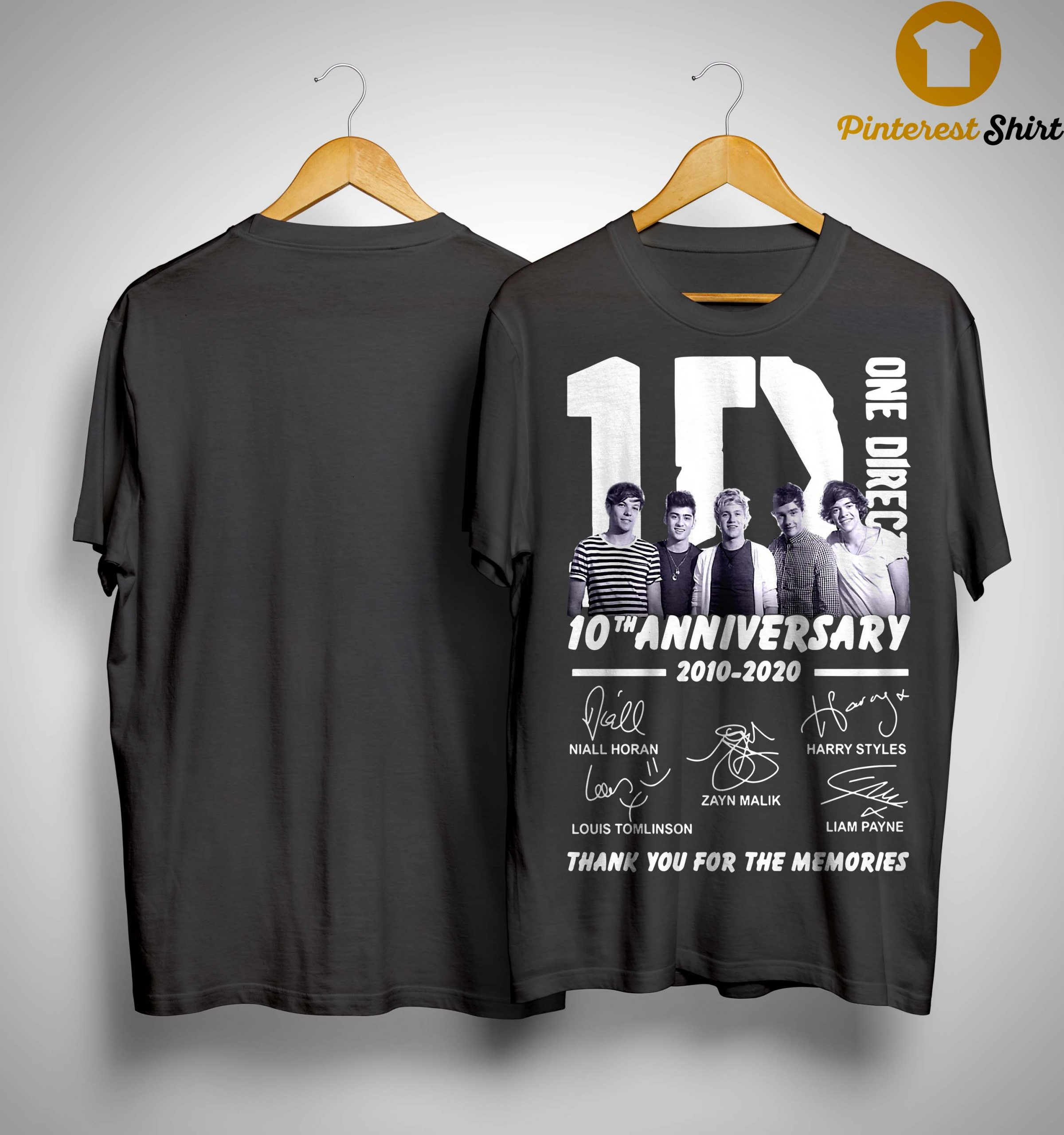 One Direction 10th Anniversary Thank You For The Memories Shirt