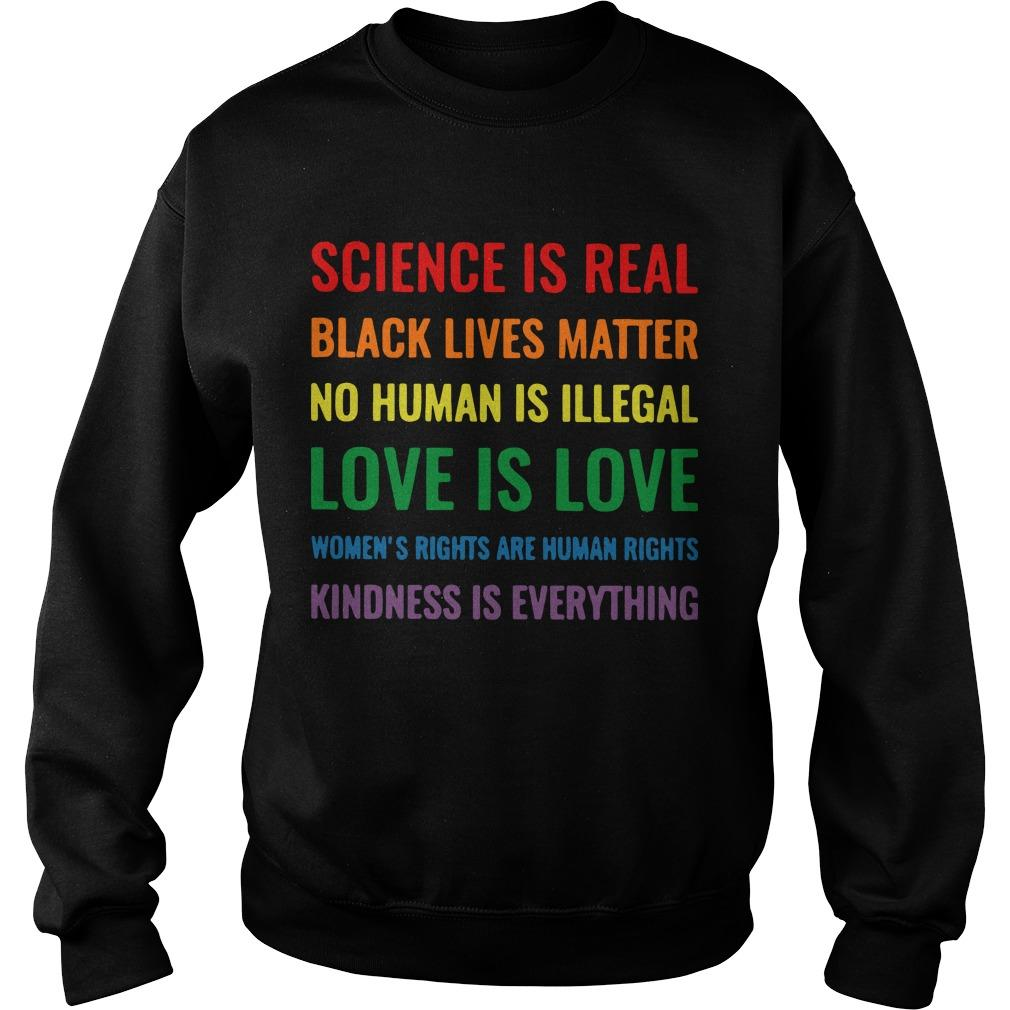 Science Is Real Black Lives Matter Sweater