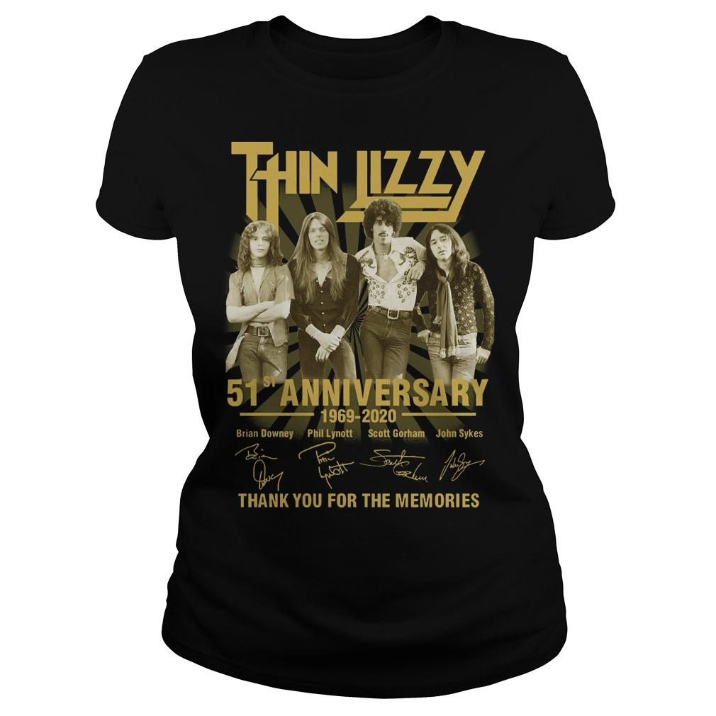 Thin Lizzy 51st Anniversary Thank You For The Memories Longsleeve