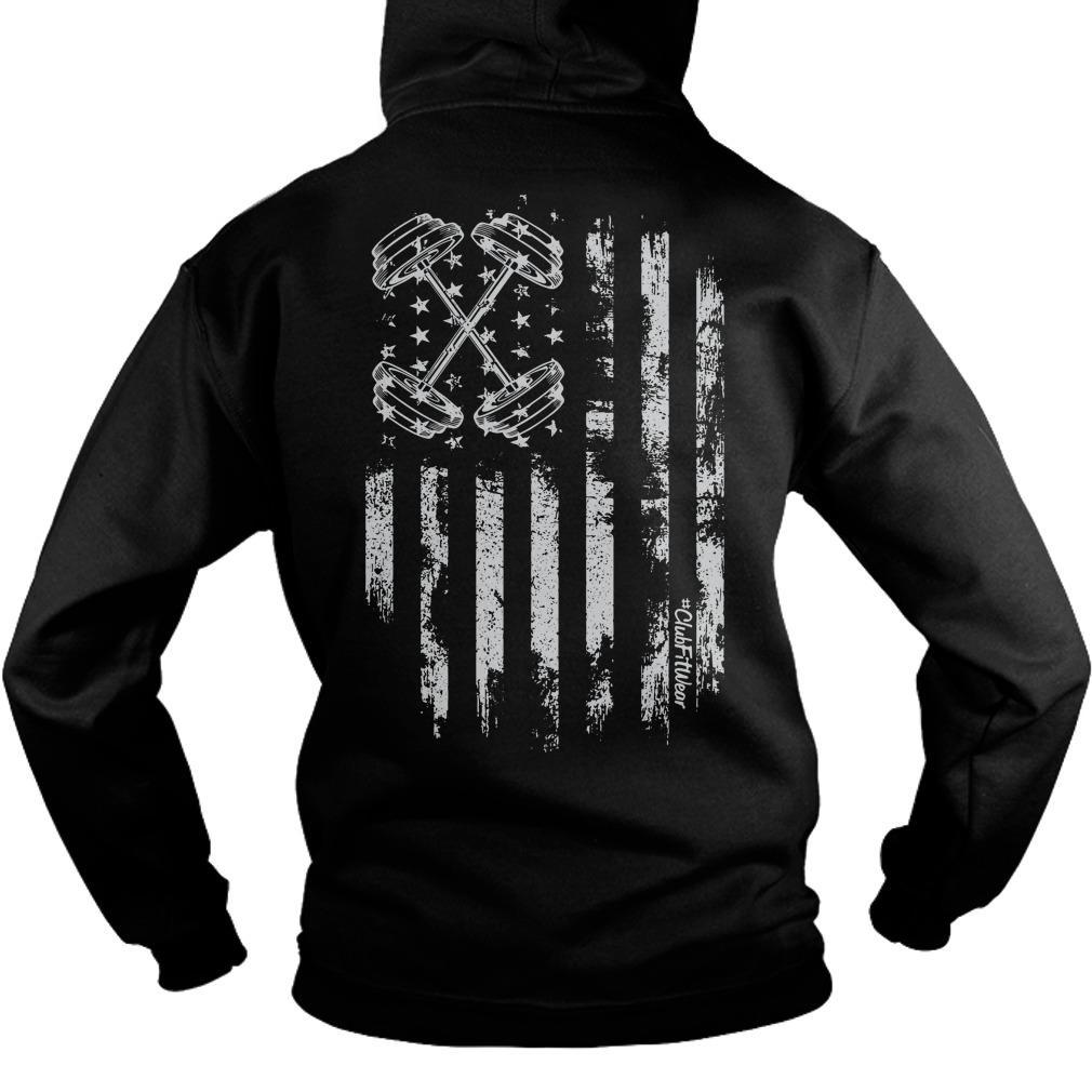 American Flag Barbell Hoodie