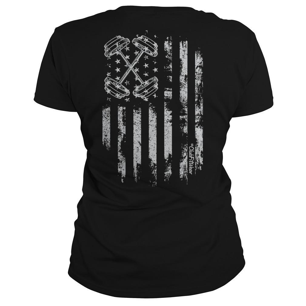 American Flag Barbell Longsleeve