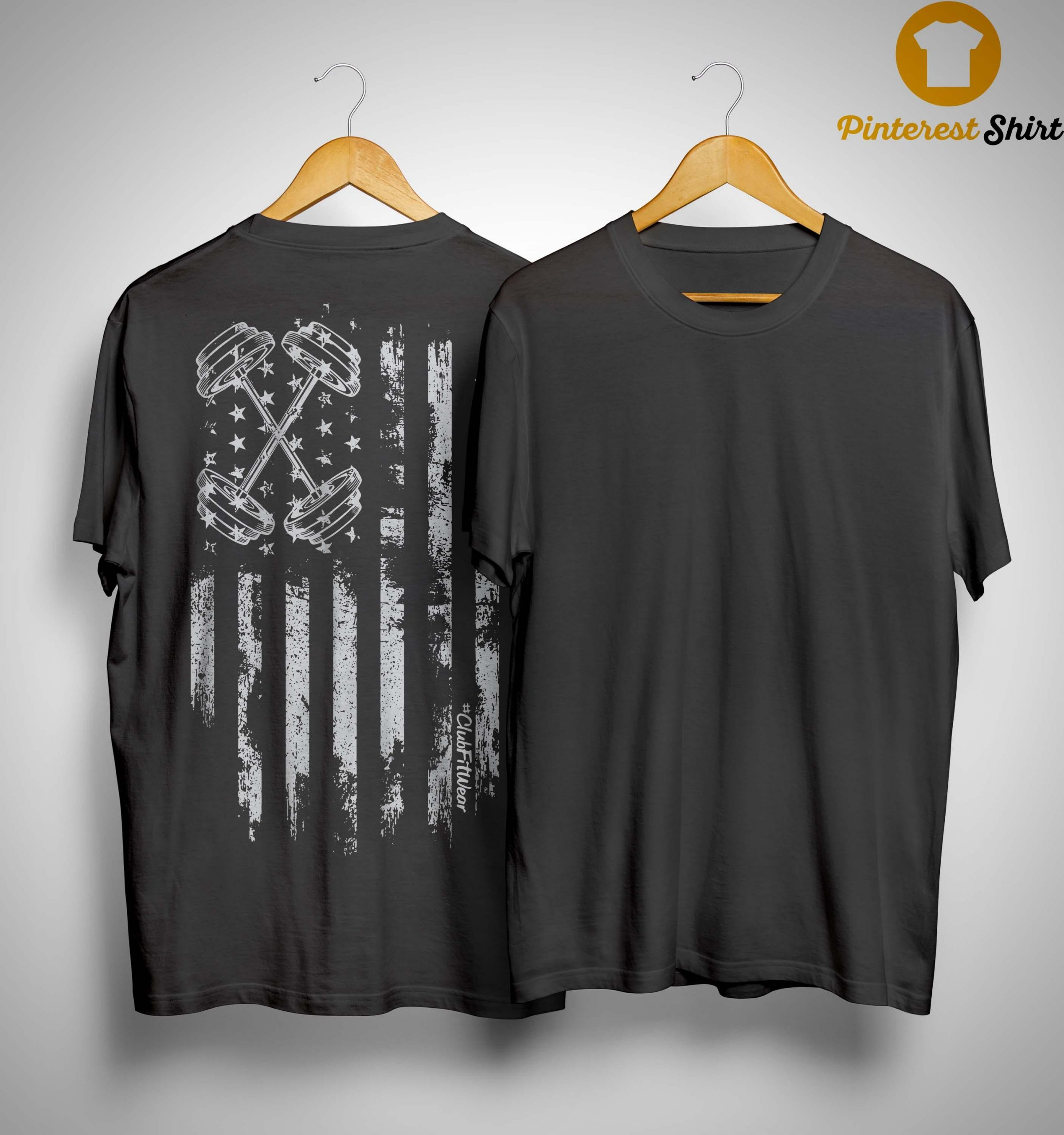 American Flag Barbell Shirt