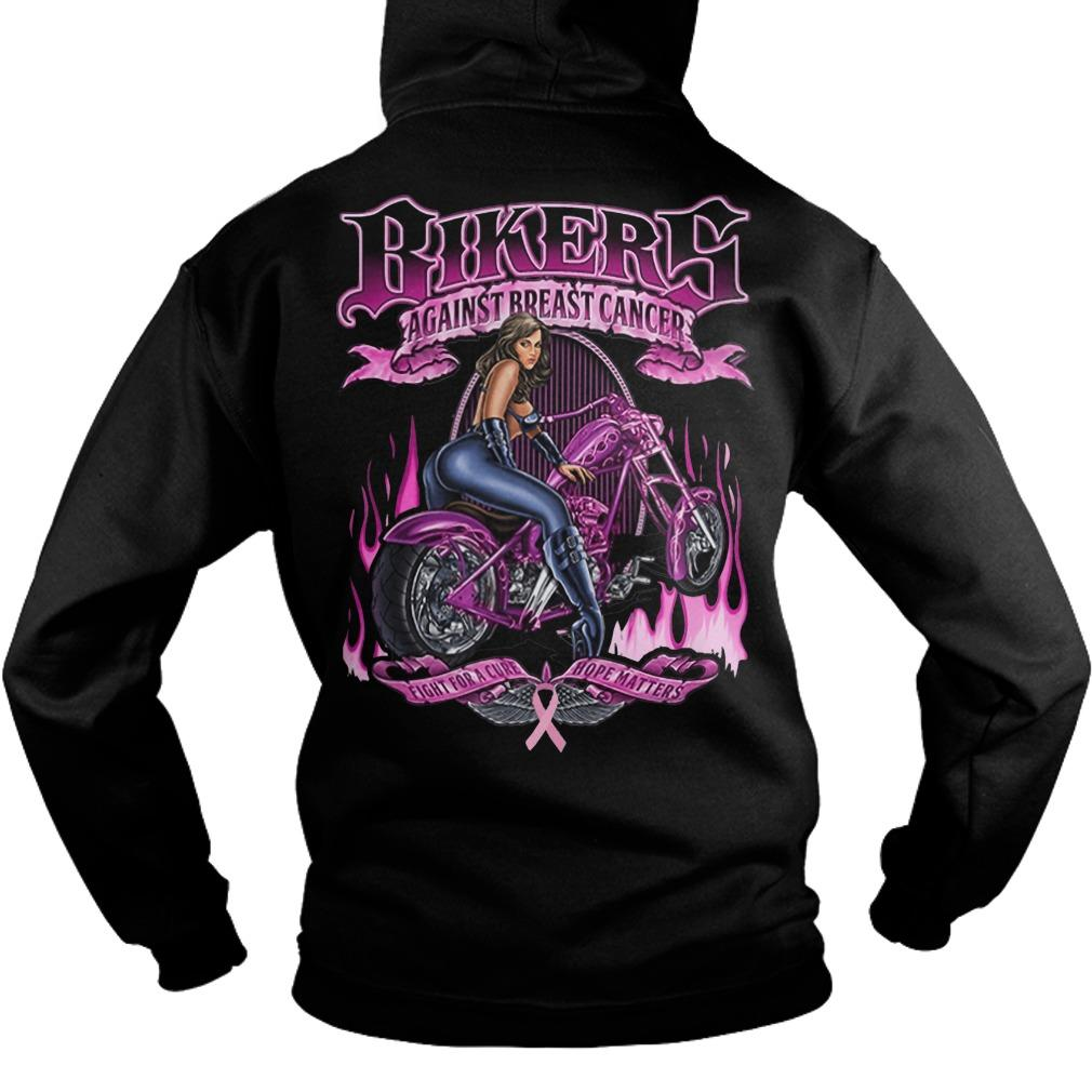 Bikers Against Breast Cancer Fight For A Cure Hoper Matters Hoodie