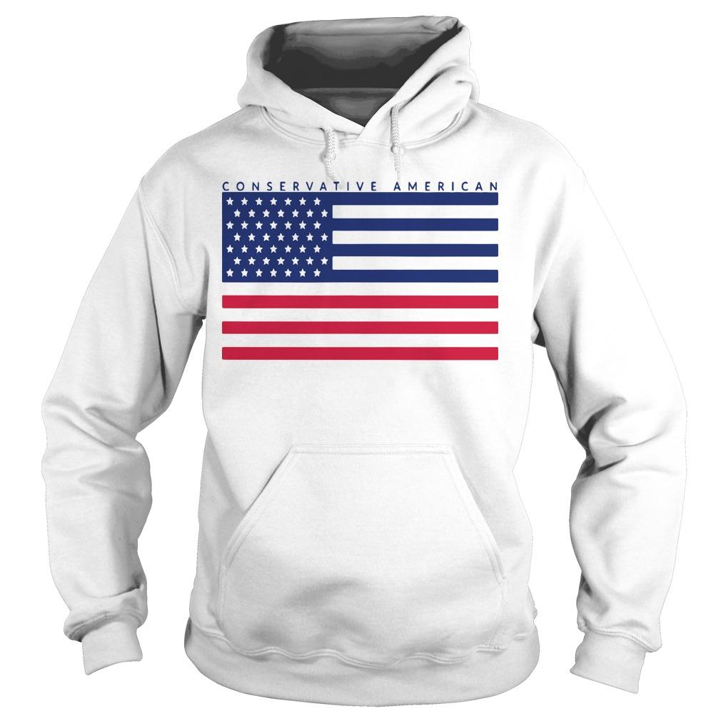Conservative American Flag Hoodie