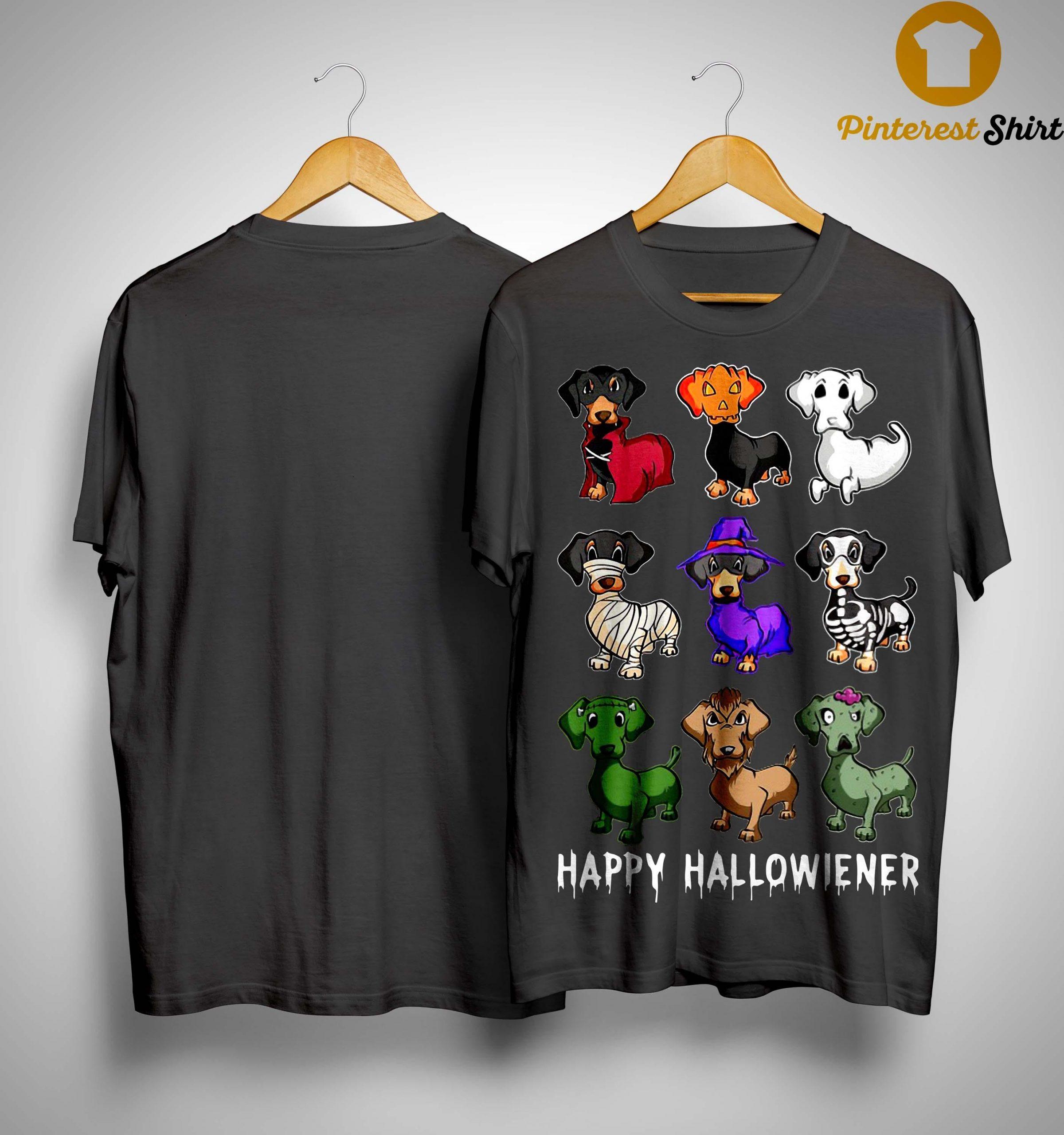 Dachshund Happy Hallowiener Shirt