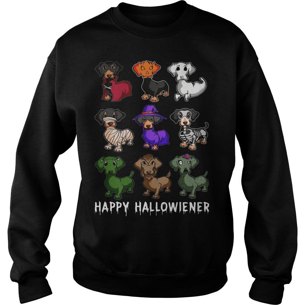 Dachshund Happy Hallowiener Sweater