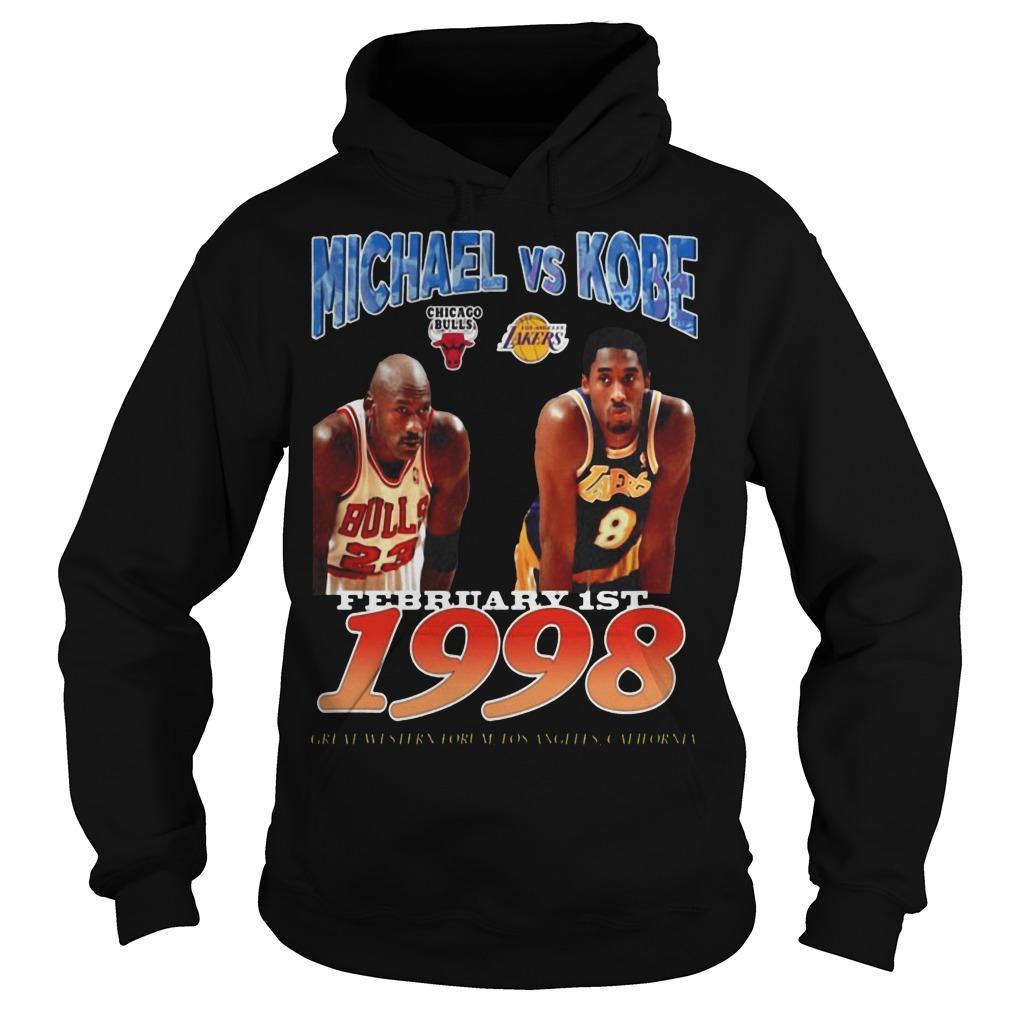 February 1st 1998 Michael Vs Kobe Hoodie