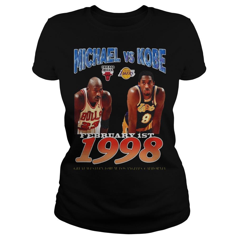 February 1st 1998 Michael Vs Kobe Longsleeve