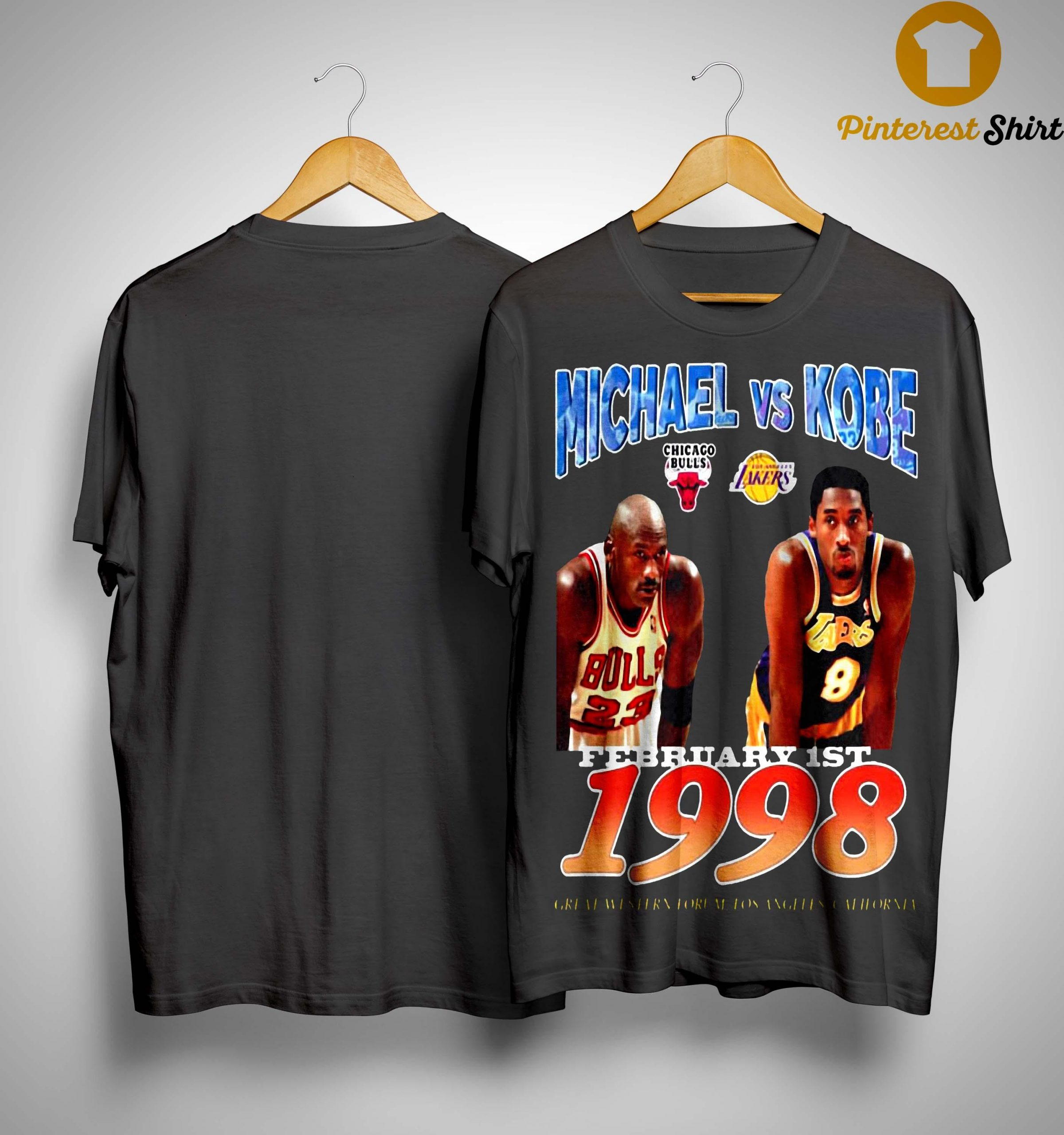 February 1st 1998 Michael Vs Kobe Shirt