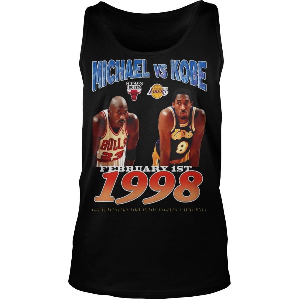 February 1st 1998 Michael Vs Kobe Tank Top