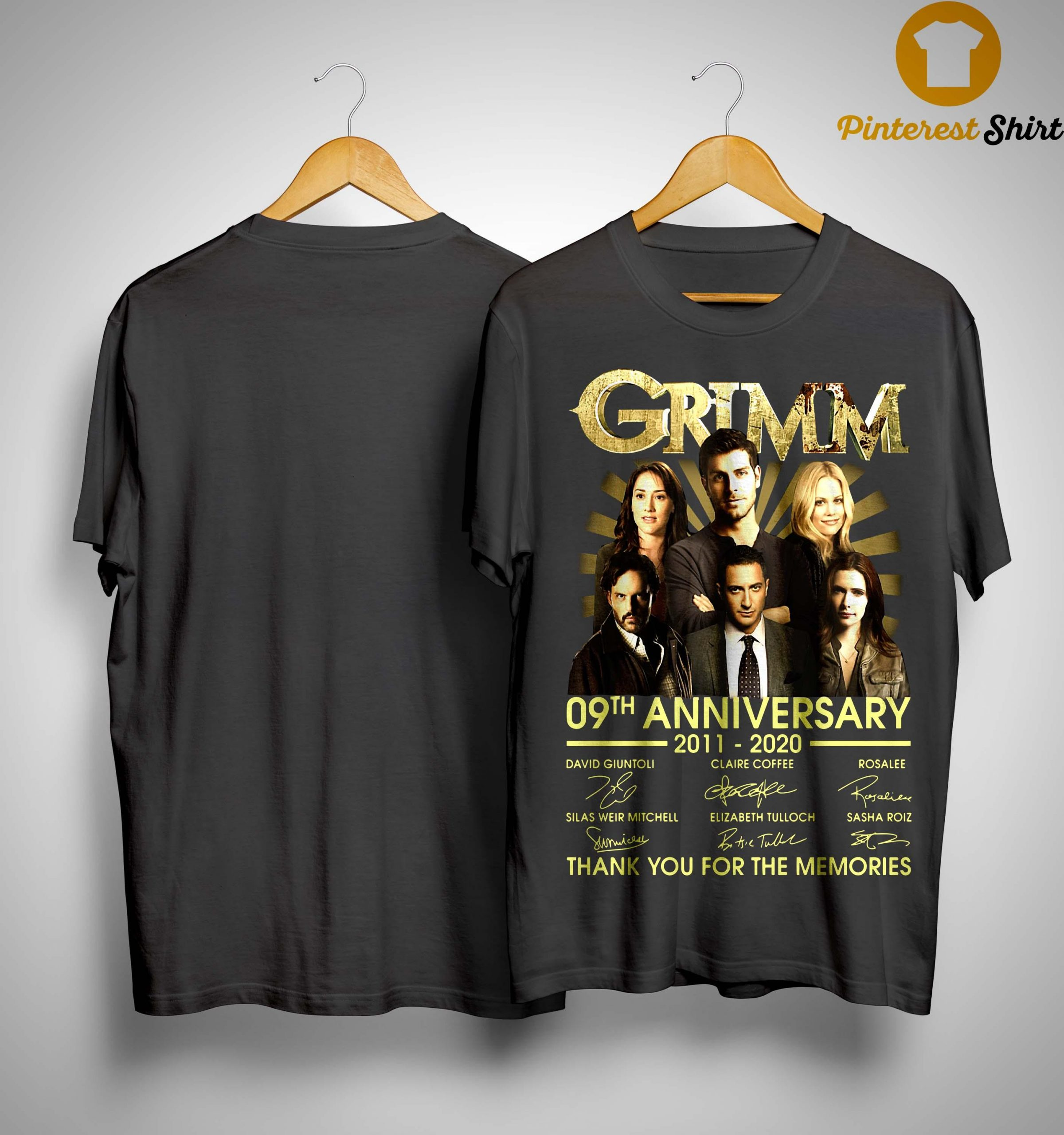 Grimm 09th Anniversary Thank You For The Memories Shirt