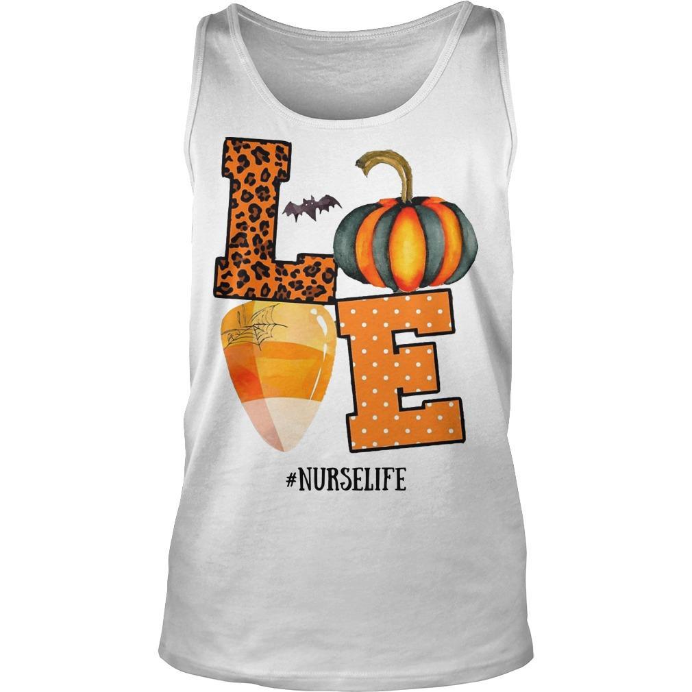 Halloween Pumpkin Love #nurselife Tank Top