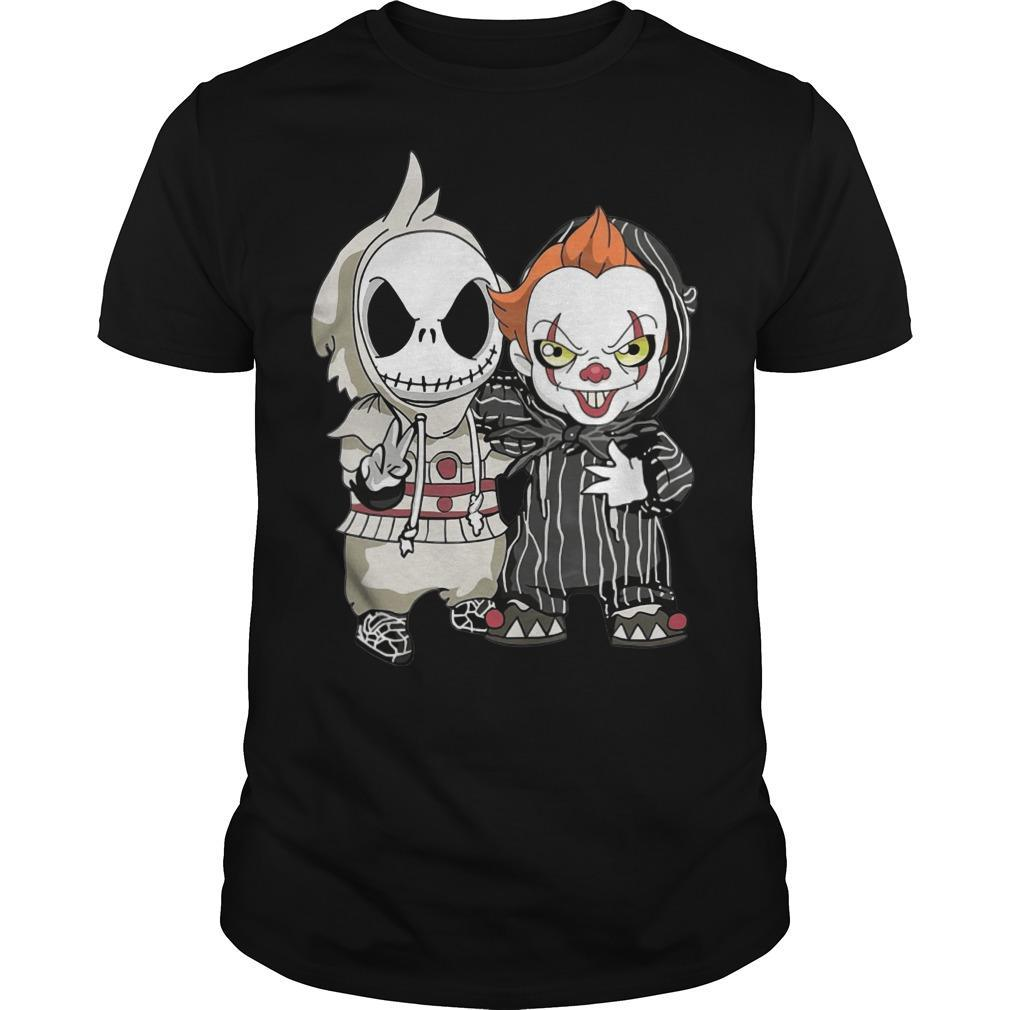 Halloween Baby Jack Skellington And Pennywise Shirt is Available In All Styles