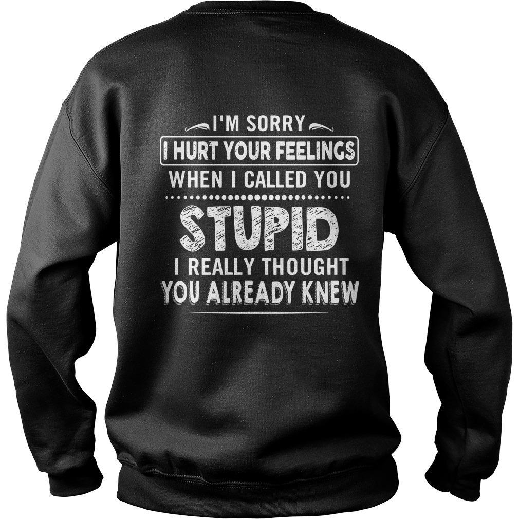 I'm Sorry I Hurt Feelings When I Called You Stupid Sweater