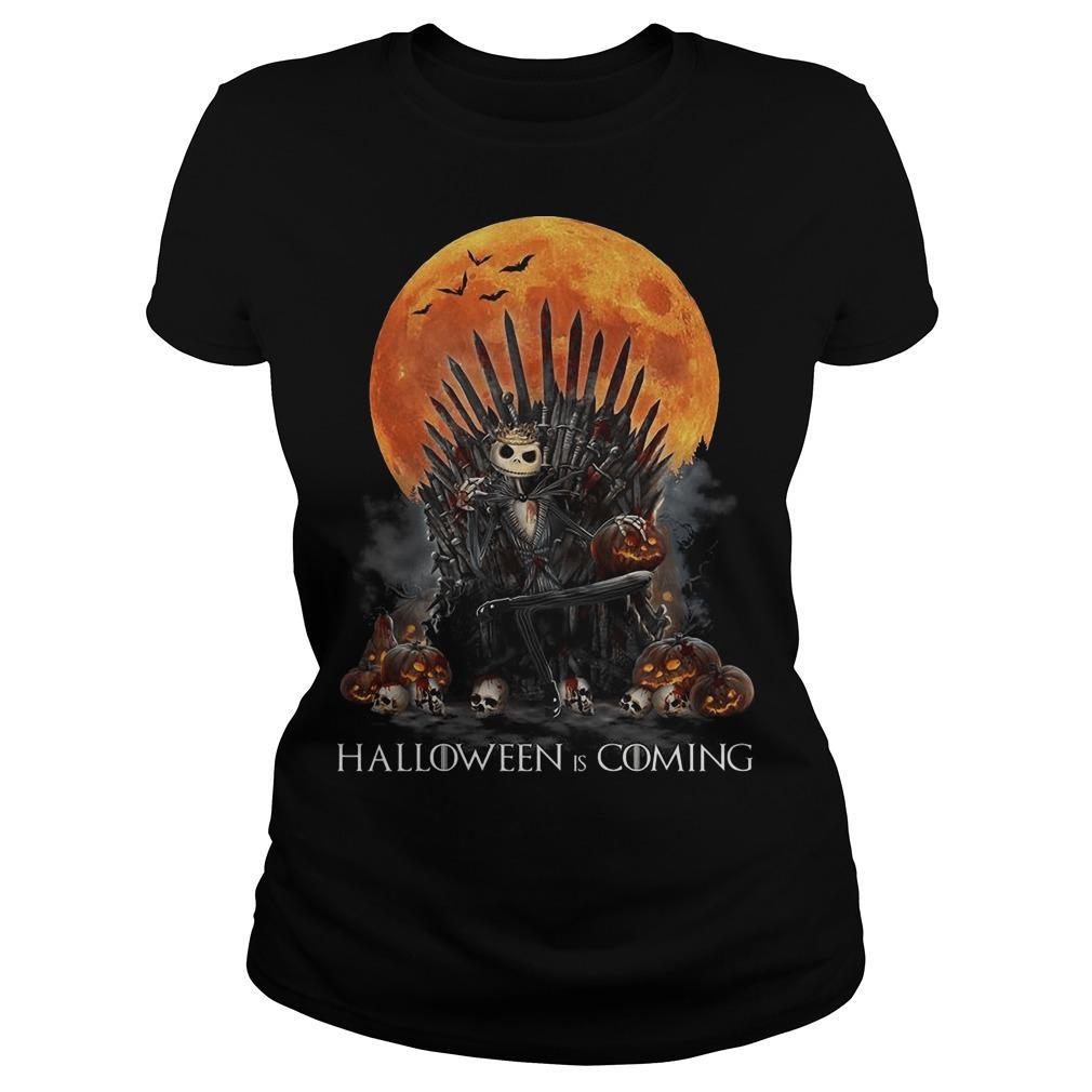 Iron Throne Jack Skellington Halloween Is Coming Longsleeve