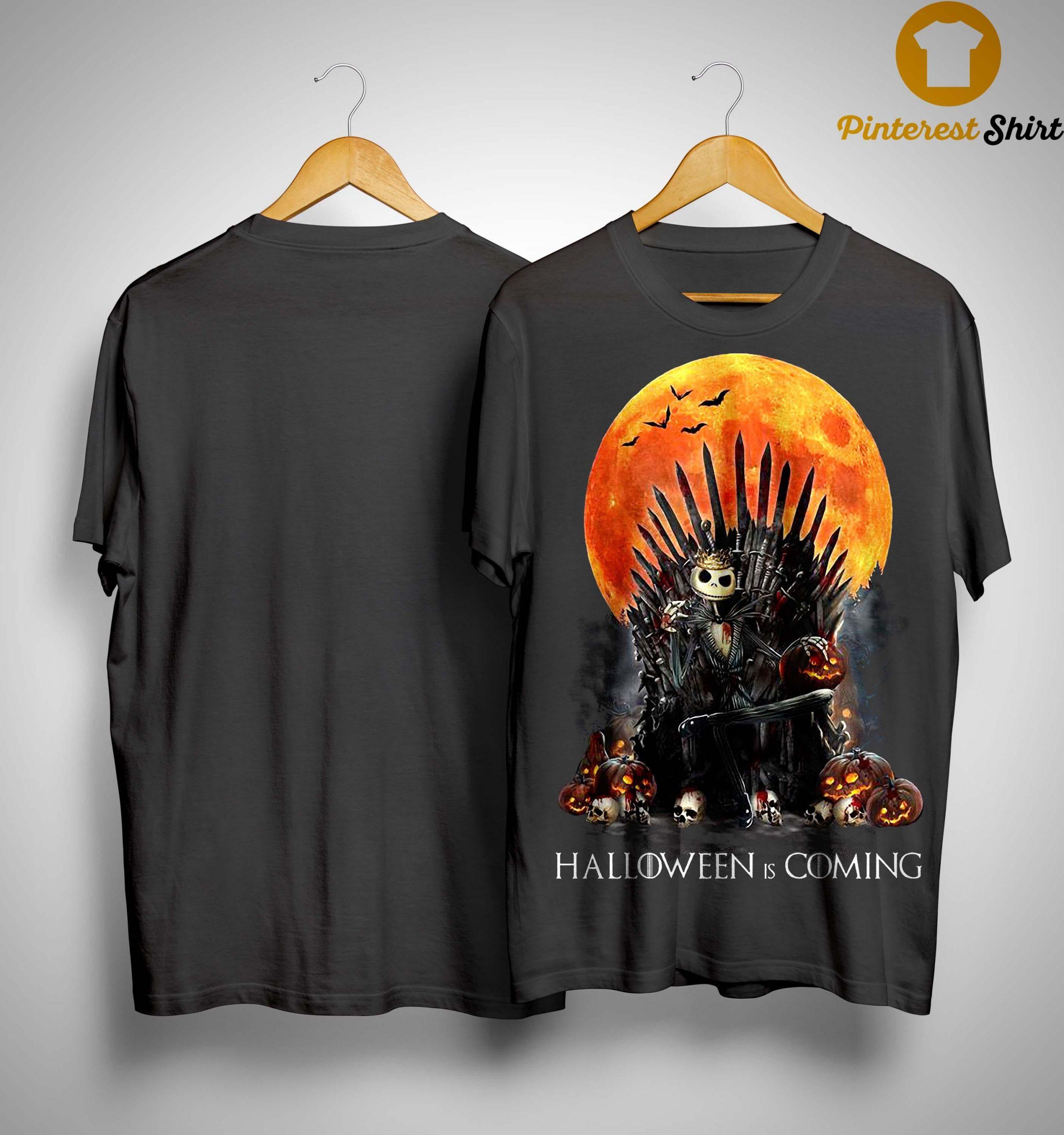 Iron Throne Jack Skellington Halloween Is Coming Shirt