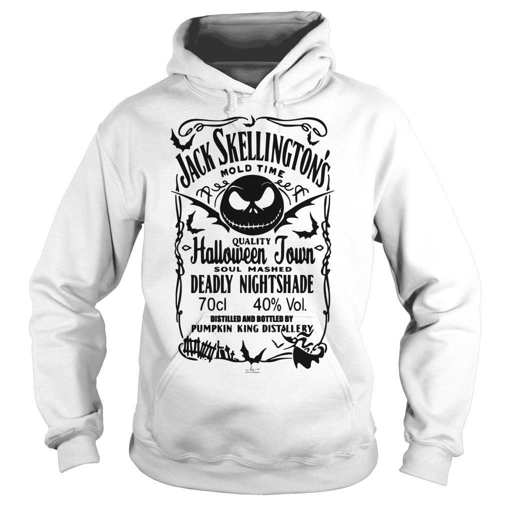 Jack Skellington Mold Time Quality Halloween Town Hoodie