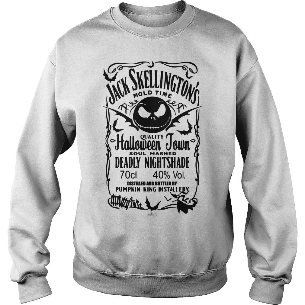 Jack Skellington Mold Time Quality Halloween Town Sweater