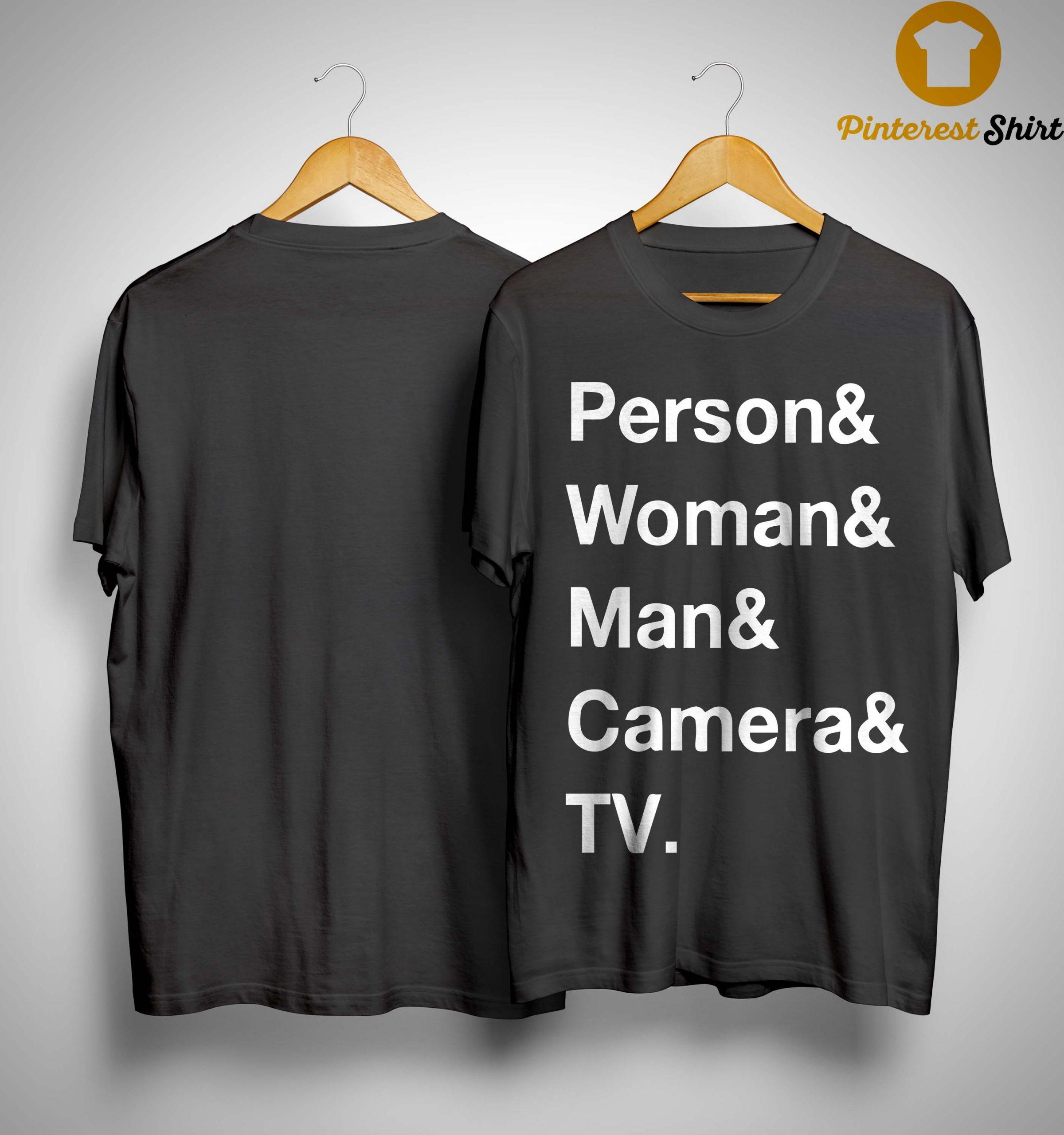 Person Woman Man Camera T Shirt