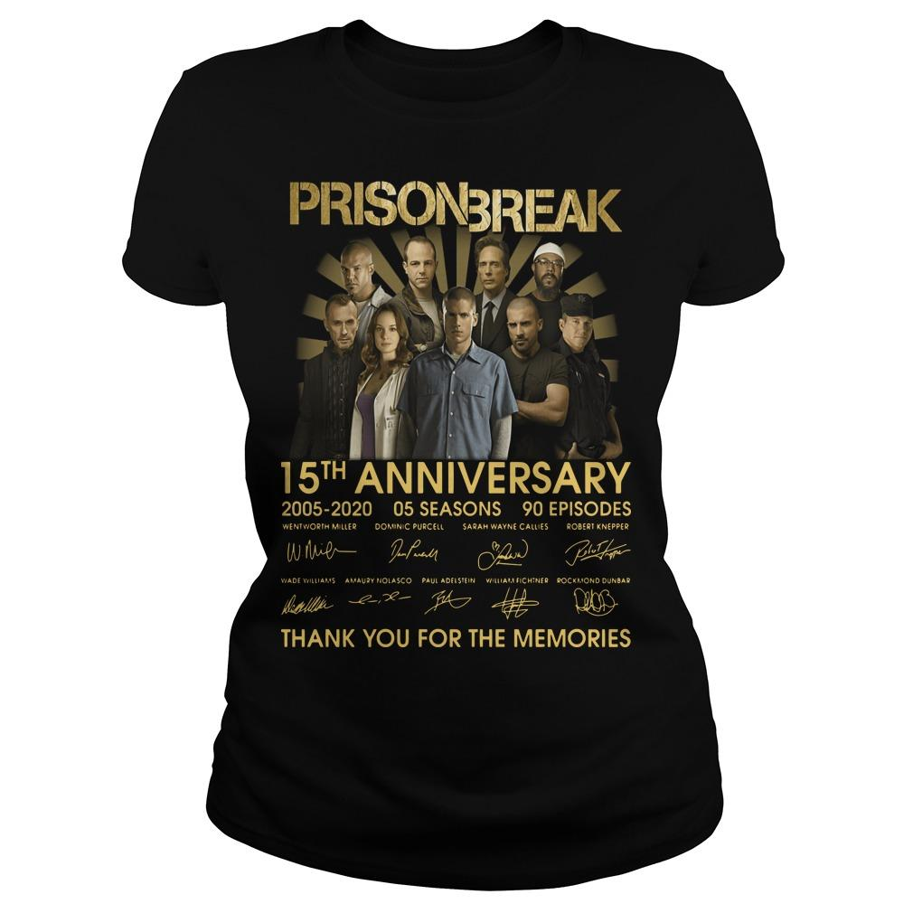 Prison Break 15th Anniversary Thank You For The Memories Longsleeve
