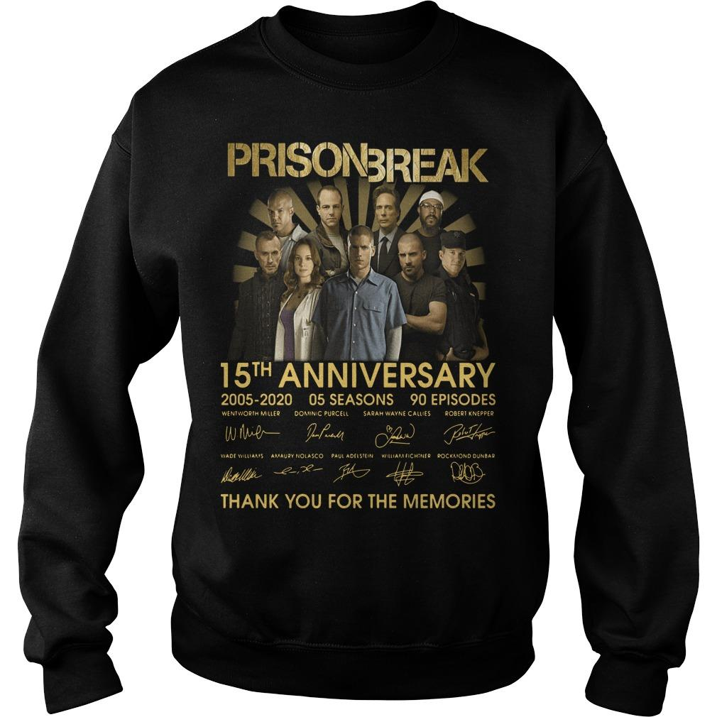 Prison Break 15th Anniversary Thank You For The Memories Sweater