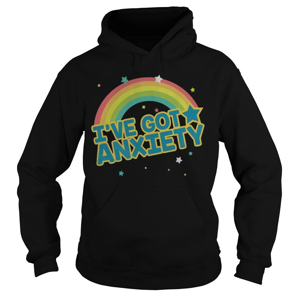 Rainbow I've Got Anxiety Hoodie