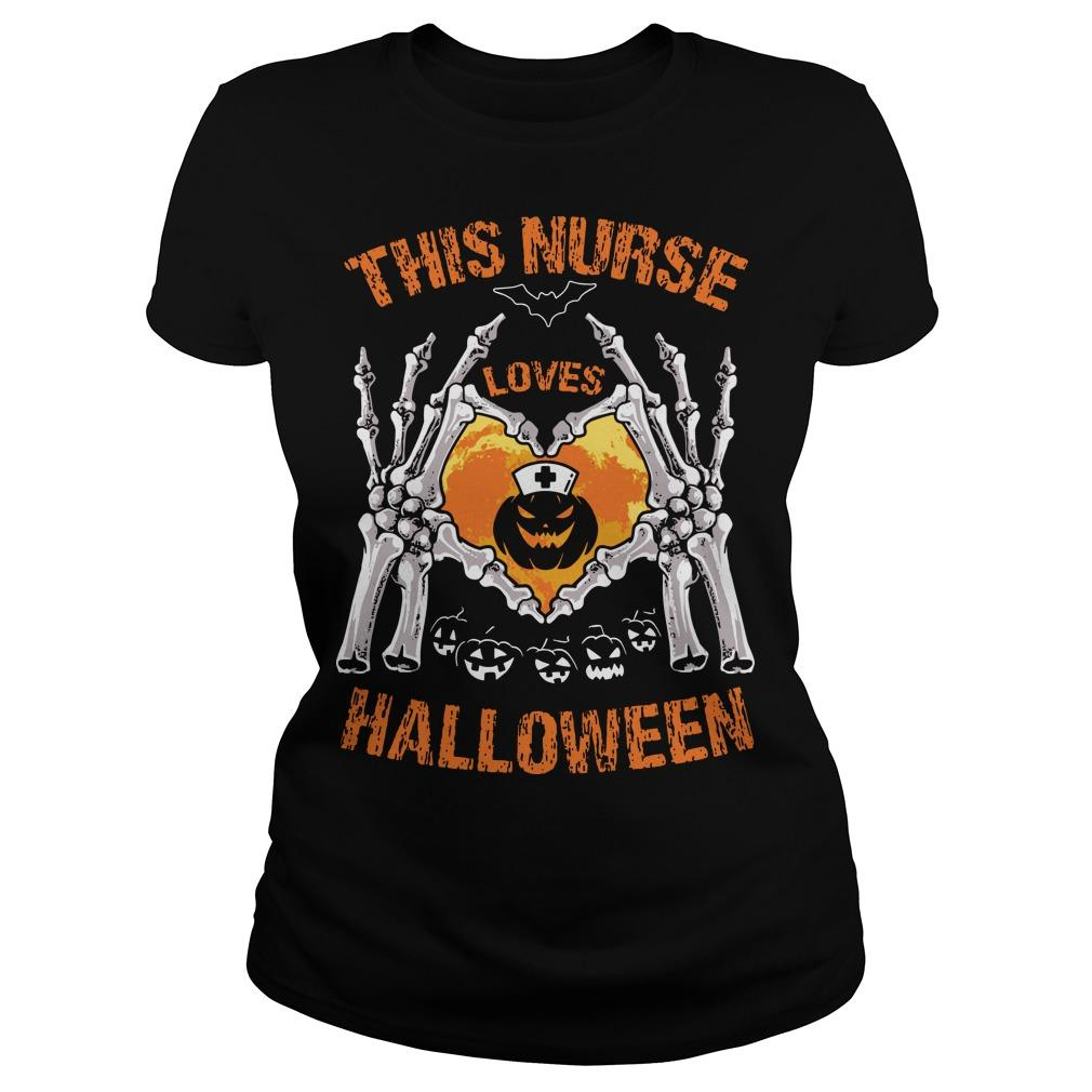 This Nurse Loves Halloween Longsleeve