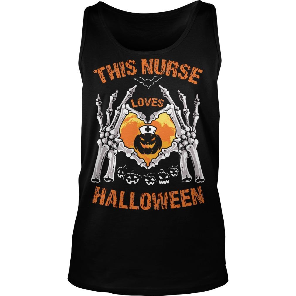 This Nurse Loves Halloween Tank Top