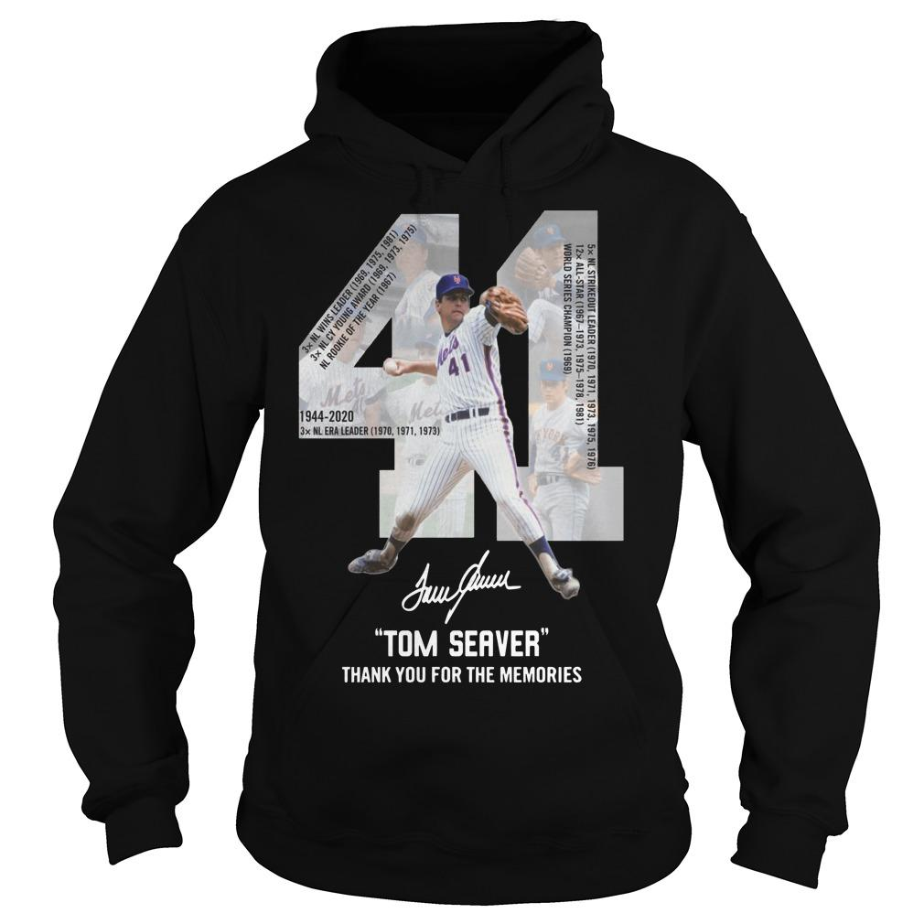 41 Tom Seaver Signature Thank You For The Memories Hoodie