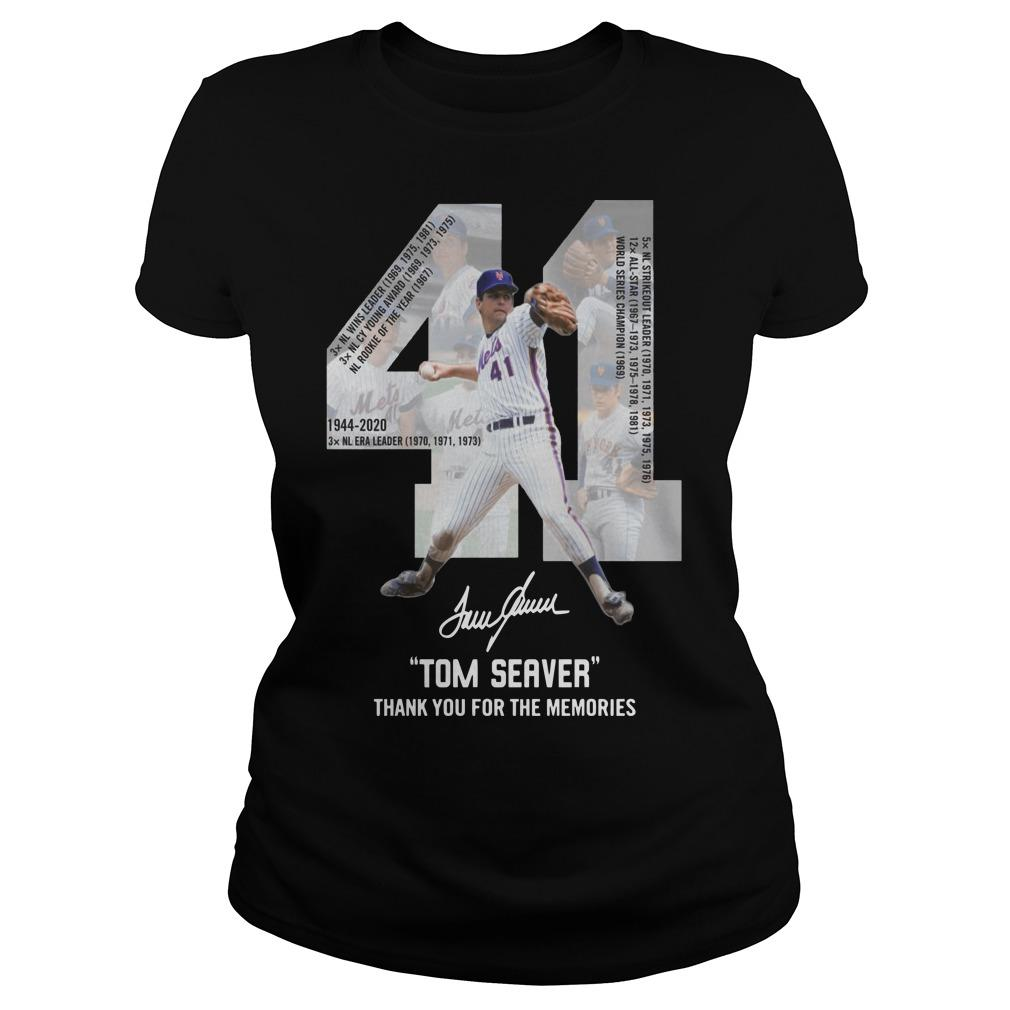 41 Tom Seaver Signature Thank You For The Memories Longsleeve