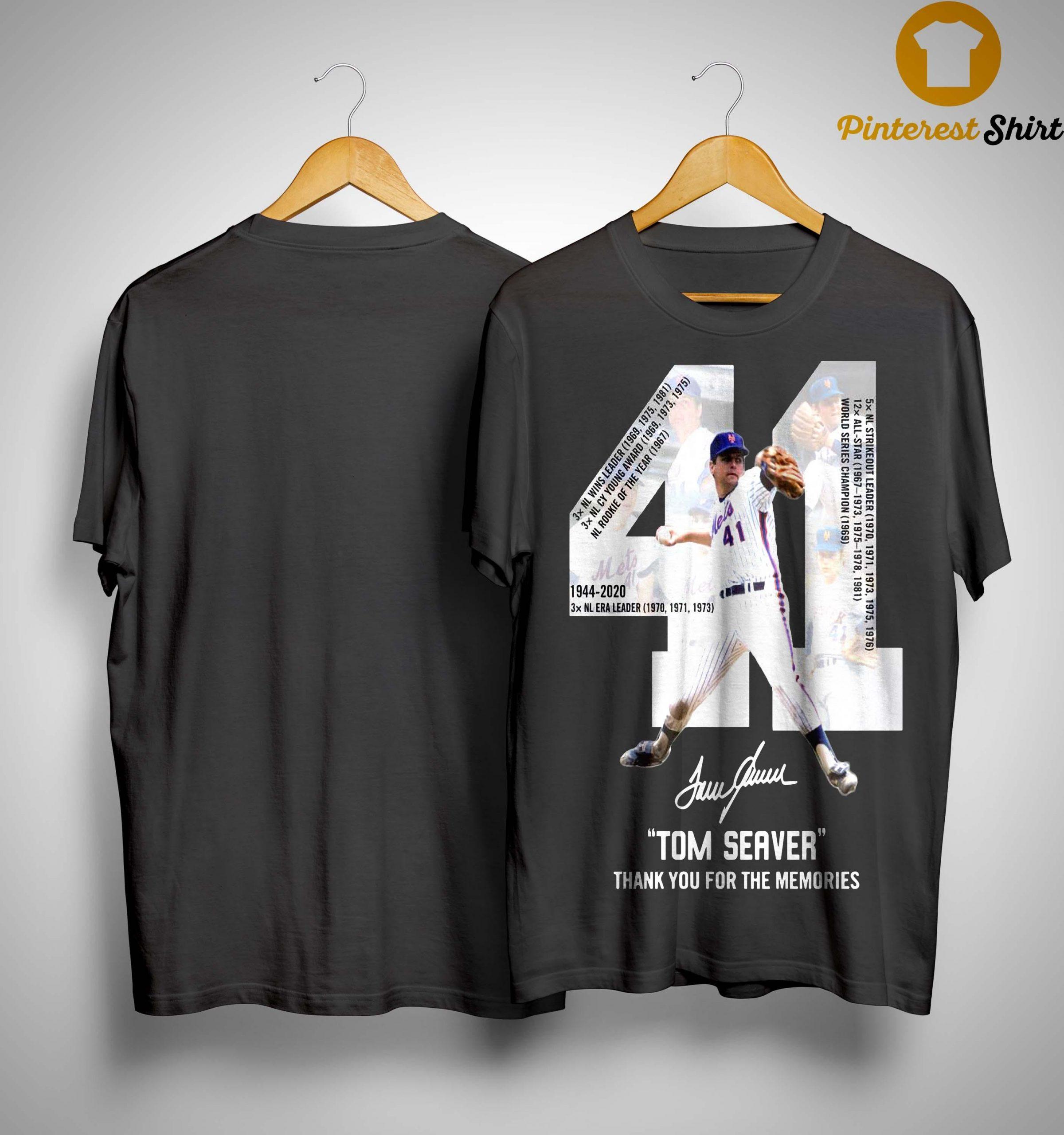 41 Tom Seaver Signature Thank You For The Memories Shirt