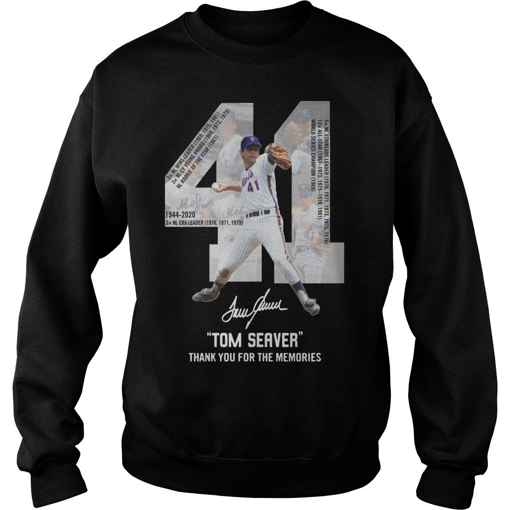 41 Tom Seaver Signature Thank You For The Memories Sweater